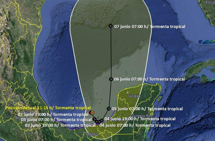 """Tormenta tropical """"Cristobal"""" Junio 2020"""