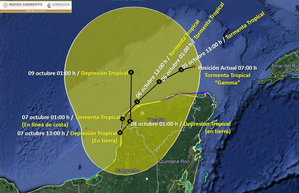 """Tormenta Tropical """"Gamma"""" Octubre 2020"""